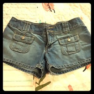 Old Navy ultra low waist shorts sz 4